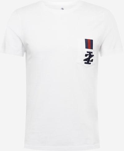 IZOD T-Shirt en bleu foncé / rouge / blanc cassé, Vue avec produit