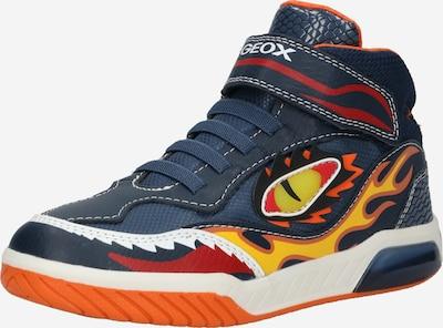GEOX Sneaker 'Inek' in marine / safran / orange / karminrot / weiß, Produktansicht