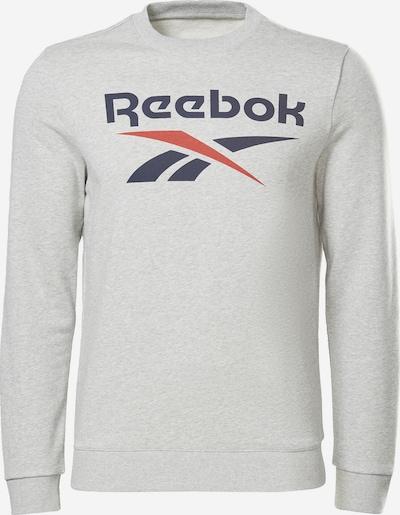 REEBOK Sweatshirt in blau / grau / rot, Produktansicht