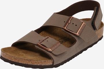 BIRKENSTOCK Sandale 'Milano' in Braun