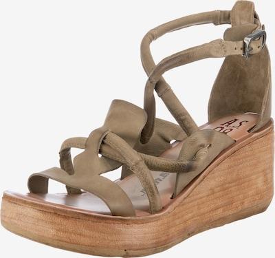 A.S.98 Sandaletten in braun / taupe, Produktansicht