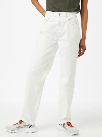 Gina Tricot Jean '90s' en blanc cassé, Vue avec modèle