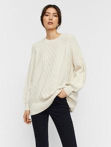 AWARE by Vero Moda Pullover 'Row' in weiß
