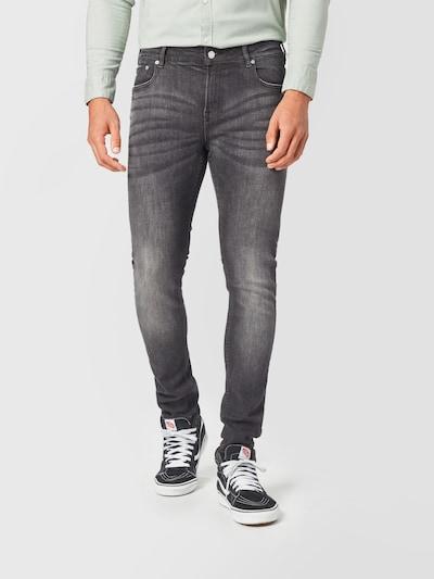 SCOTCH & SODA Jeans in de kleur Grey denim: Vooraanzicht