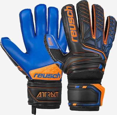 REUSCH Torwarthandschuhe 'Attrakt Extra Finger Support' in dunkelblau / orange / schwarz, Produktansicht