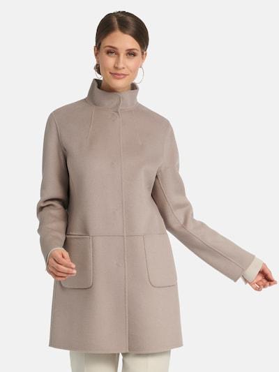 Basler Between-Seasons Coat in Taupe, View model
