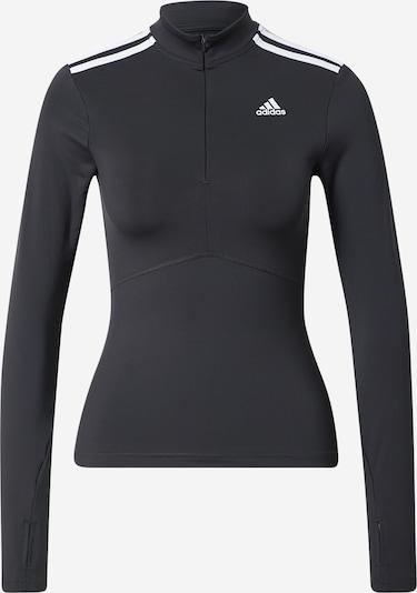ADIDAS PERFORMANCE T-shirt fonctionnel 'QUARTERZIP' en noir / blanc, Vue avec produit