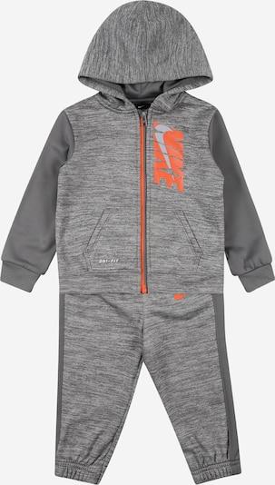 Nike Sportswear Survêtement en gris argenté / gris chiné / orange, Vue avec produit