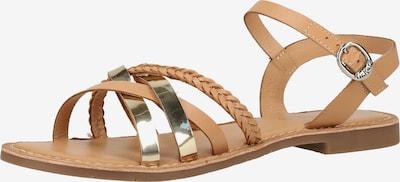 KICKERS Sandale in hellbraun / gold, Produktansicht