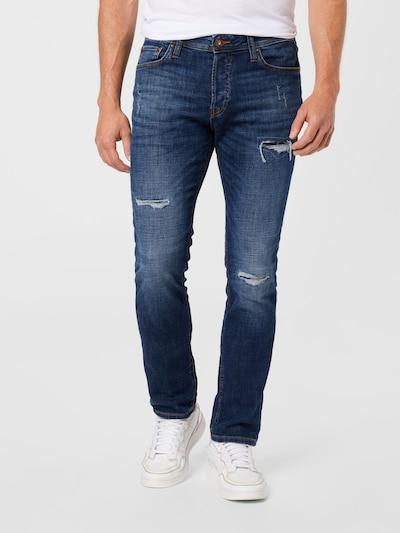 JACK & JONES Jeans 'TIM' i blå denim, På modell