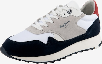 Pepe Jeans Sneaker in blau / grau / dunkelrot / weiß, Produktansicht