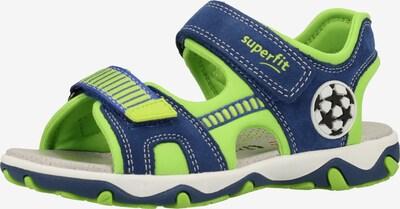 SUPERFIT Sandalen in blau / neongrün, Produktansicht