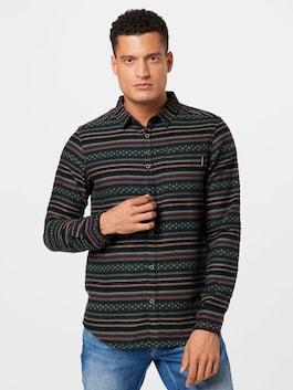 Tmavozelená / čierna vzorovaná košeľa od značky Iriedaily