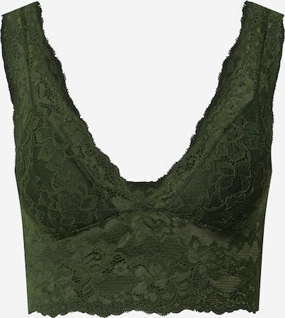 PIECES Bra 'Lina' in dunkelgrün, Produktansicht