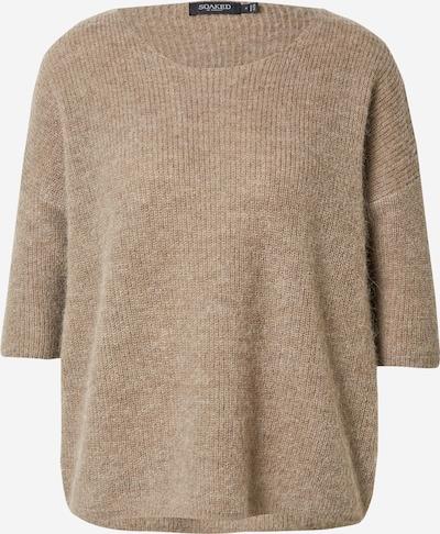 SOAKED IN LUXURY Pullover  'Tuesday' in braunmeliert, Produktansicht