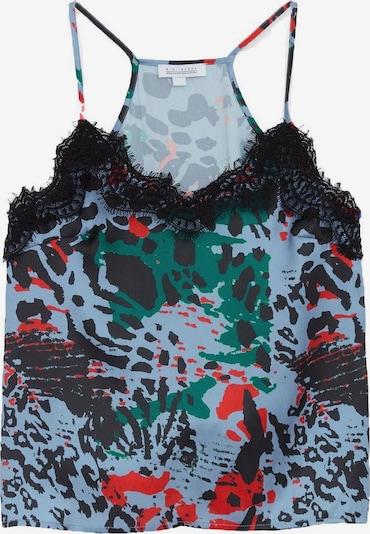 Zibi London Top in blau / dunkelgrün / rot / schwarz, Produktansicht