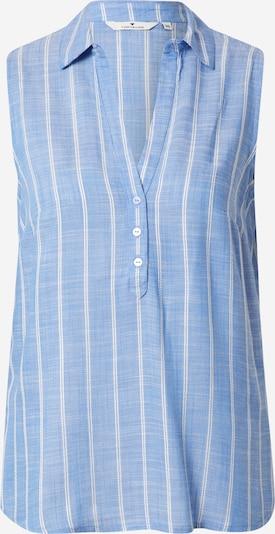 TOM TAILOR Blouse in de kleur Smoky blue / Wit, Productweergave