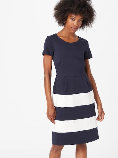 MORE & MORE Kleid in ecru / marine, Modelansicht