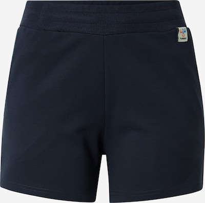 Pantaloni sportivi Hummel di colore blu scuro / bianco, Visualizzazione prodotti