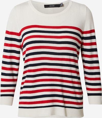 VERO MODA Pullover in kobaltblau / rot / weiß, Produktansicht