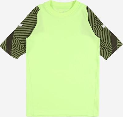 NIKE Sport-Shirt 'Breathe Strike' in hellgrün / dunkelgrün / schwarz / weiß, Produktansicht