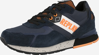 REPLAY Platform trainers 'SPORT GAME' in Navy / Orange / White, Item view