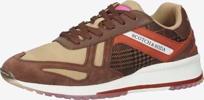 SCOTCH & SODA Sneaker 'Vivex' in braun / hellbraun / orange, Produktansicht