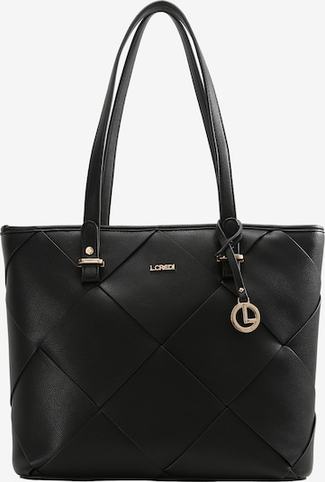 L.CREDI Shopper 'HERRA' in schwarz, Produktansicht