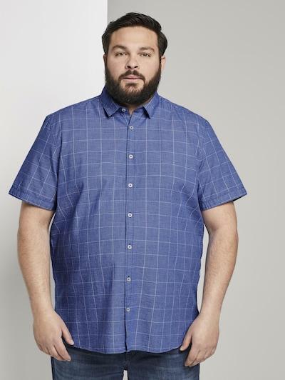 TOM TAILOR Men Plus Hemd in blau: Frontalansicht