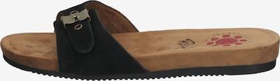 Relife Pantolette in hellbraun / schwarz, Produktansicht