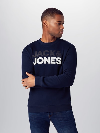 tengerészkék / fehér JACK & JONES Tréning póló: Elölnézet