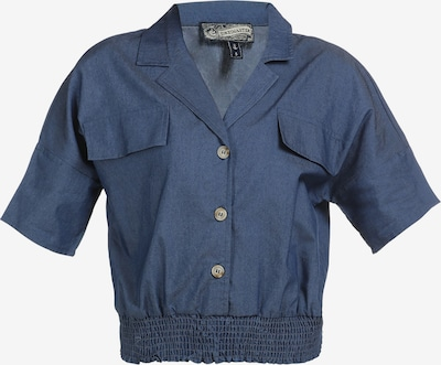 DreiMaster Vintage Bluse in blau, Produktansicht