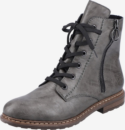 RIEKER Lace-Up Ankle Boots in mottled grey, Item view