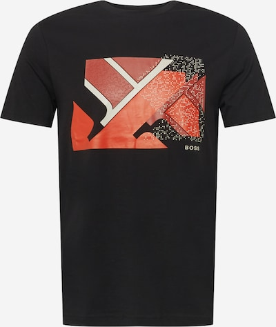 BOSS ATHLEISURE Bluser & t-shirts 'Teeonic' i rød / mørkerød / sort / hvid, Produktvisning