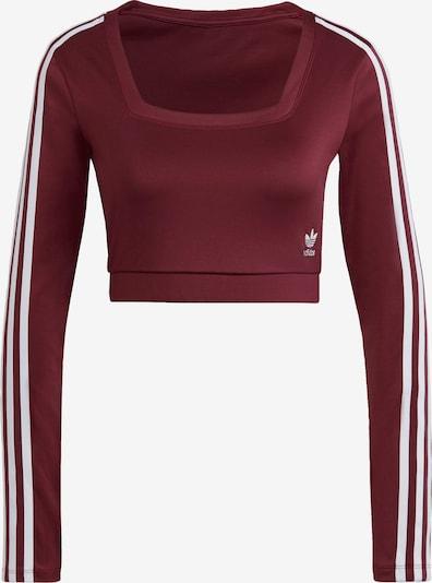 Tricou ADIDAS ORIGINALS pe roșu burgundy / alb, Vizualizare produs