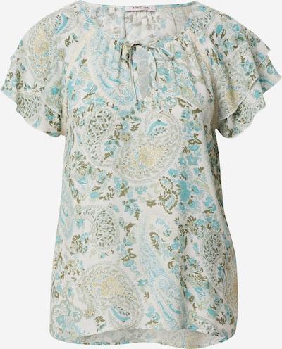 Orsay Bluse in türkis / khaki / pastellgrün / weiß, Produktansicht