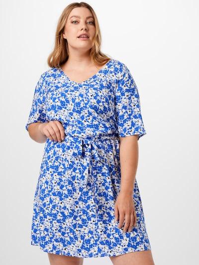 ONLY Carmakoma Kleid 'Dazz' in blau / schwarz / weiß, Modelansicht