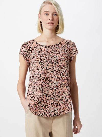 ONLY Shirt in hellgelb / hellgrün / orange, Modelansicht