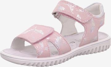 SUPERFIT Sandaal 'Sparkle', värv roosa