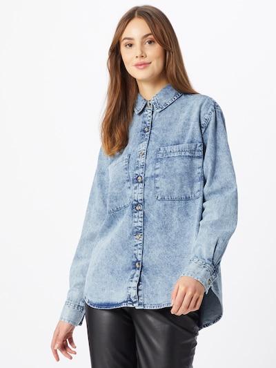 Urban Classics Bluse in hellblau, Modelansicht