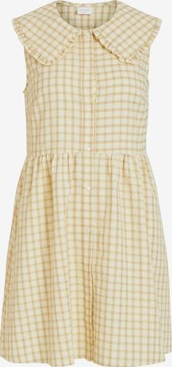 Rochie tip bluză VILA pe maro deschis / galben / alb, Vizualizare produs