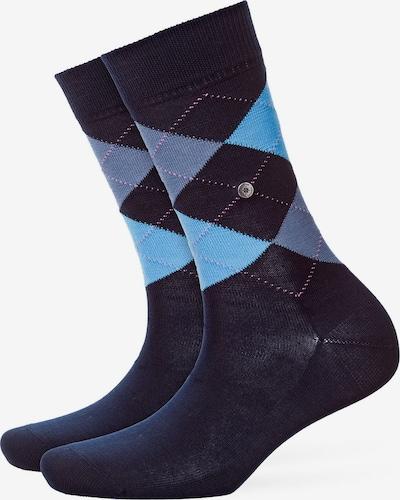 BURLINGTON Socken in blau / hellblau / lila: Frontalansicht