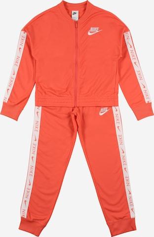 Nike Sportswear Sweat suit in Orange