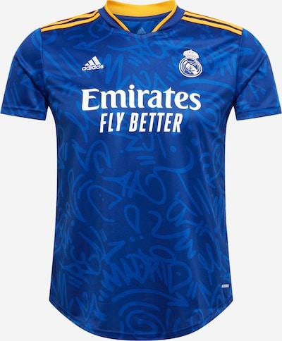 ADIDAS PERFORMANCE Sportshirt 'REAL' in blau / dunkelblau / gelb / weiß, Produktansicht