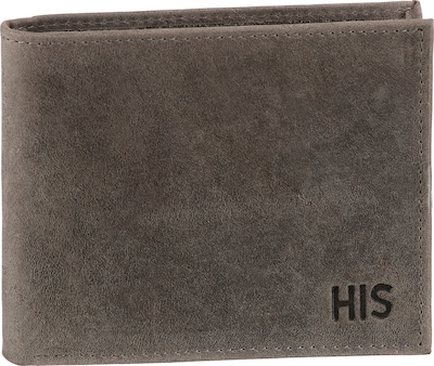 HIS JEANS Geldbörse in grau, Produktansicht