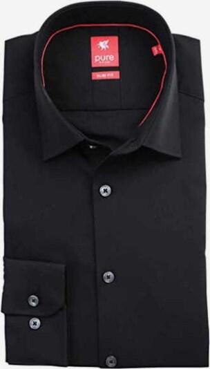Hatico Langarm Business Hemd in schwarz, Produktansicht