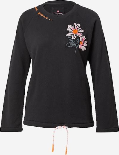 LIEBLINGSSTÜCK Sweatshirt 'Urda' in azur / dunkelorange / hellpink / schwarz, Produktansicht