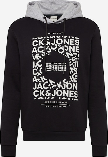 JACK & JONES Sweatshirt i sort / hvid: Frontvisning