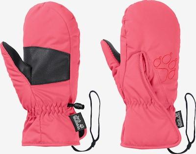 JACK WOLFSKIN Fausthandschuhe in rosa / schwarz, Produktansicht