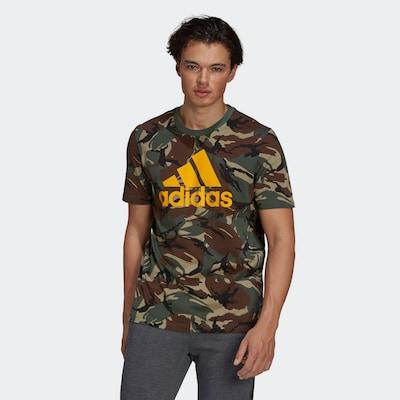 ADIDAS PERFORMANCE T-Shirt in creme / braun / gelb / grün / schwarz: Frontalansicht